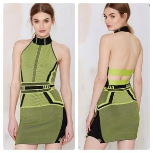 Nasty Gal Green The Digital Rage Dress size xxs